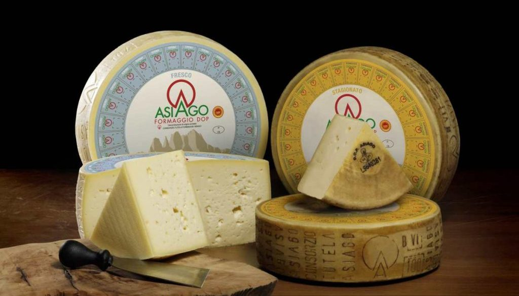 Asiago fresco e stagionato