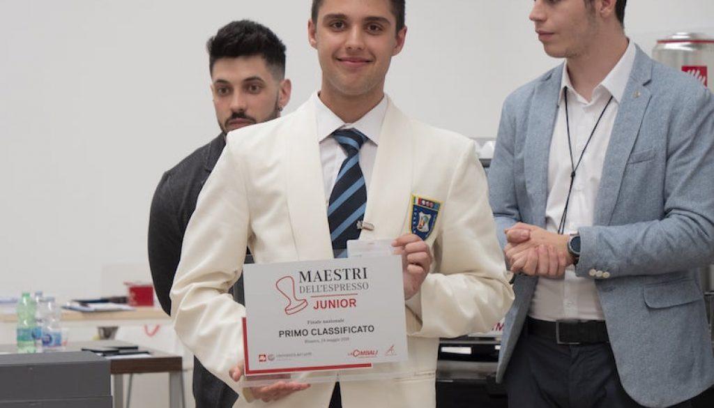 Riccardo Merlonghi vincitore di Maestri dell'Espresso Junior 2019