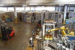 fusti, robot, magazzino, birra Peroni, Padova