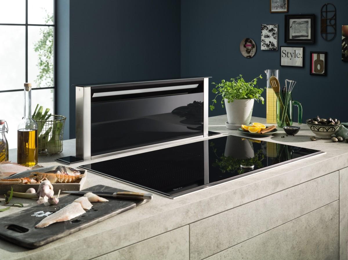 Piano Induzione Neff Flexinduction in cucina con piani e cappe neff - cibobic