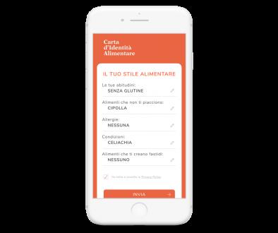 App MyCIA: carta identità alimentare
