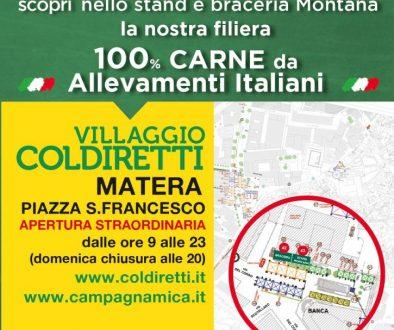 Invito Montana, Coldiretti Matera