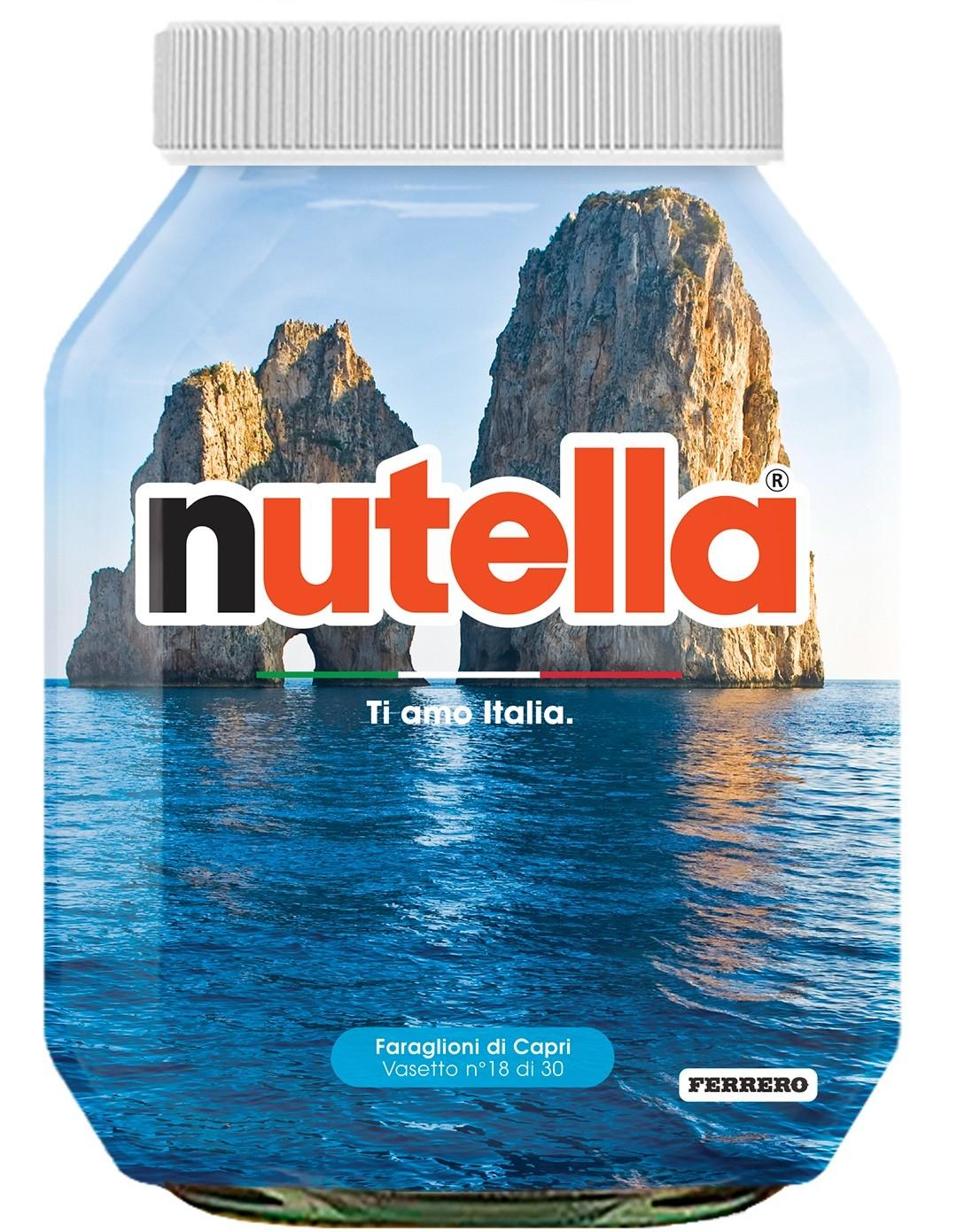 Nutella 18 Campania Faraglioni di Capri