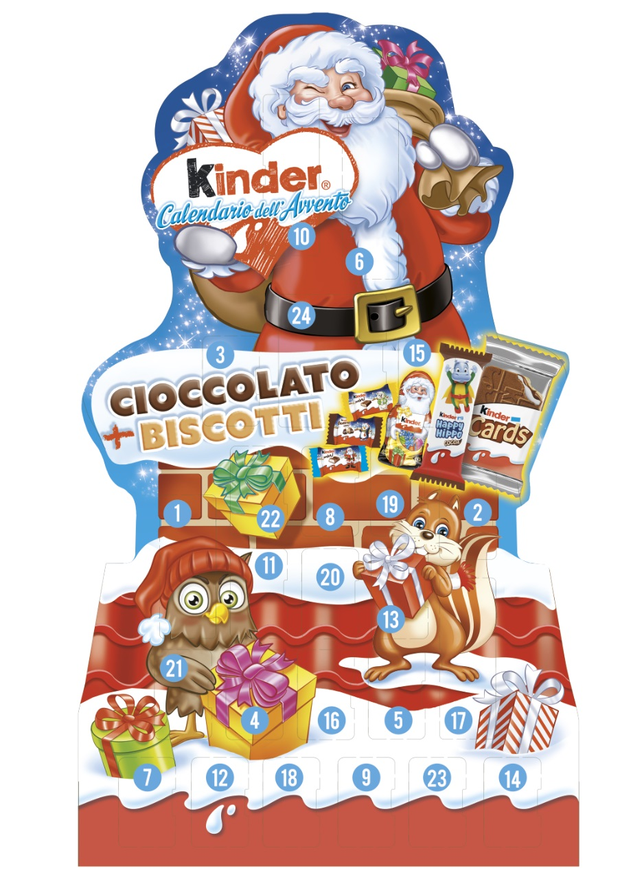 Calendario Avvento Babbo Natale Ferrero